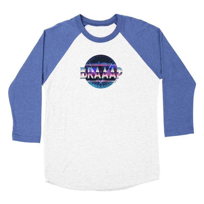 BRAAAP Chrome Men's Baseball Triblend Longsleeve T-Shirt by CRANK. outdoors + music lifestyle clothing