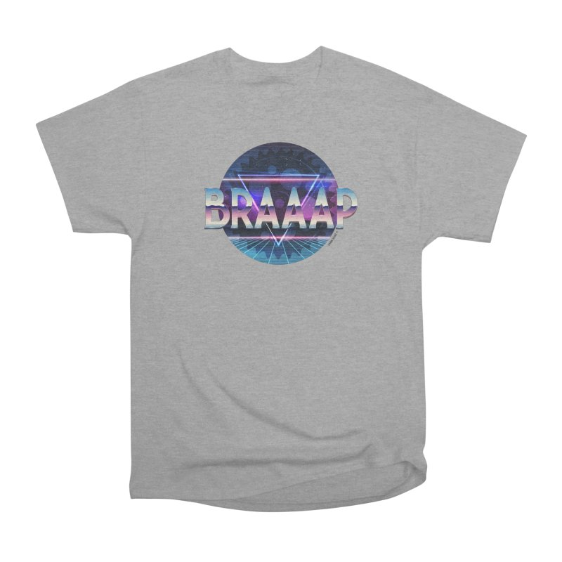 BRAAAP Chrome Women's Heavyweight Unisex T-Shirt by CRANK. outdoors + music lifestyle clothing