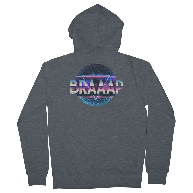 BRAAAP Chrome Women's Zip-Up Hoody by CRANK. outdoors + music lifestyle clothing