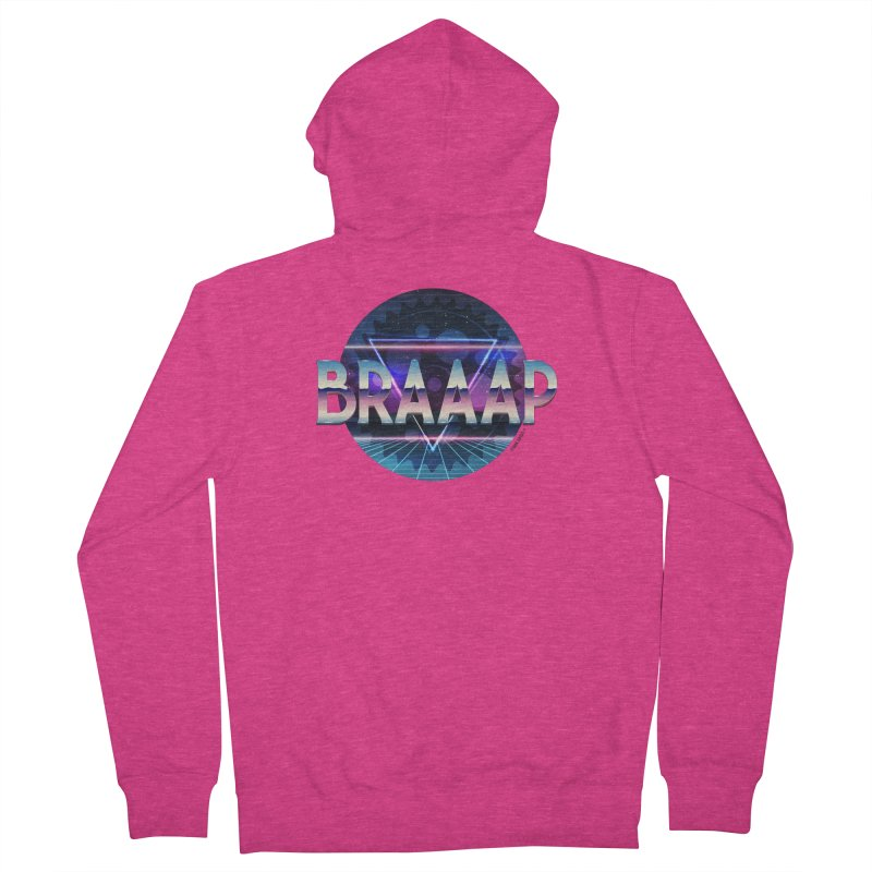 BRAAAP Chrome Women's French Terry Zip-Up Hoody by CRANK. outdoors + music lifestyle clothing