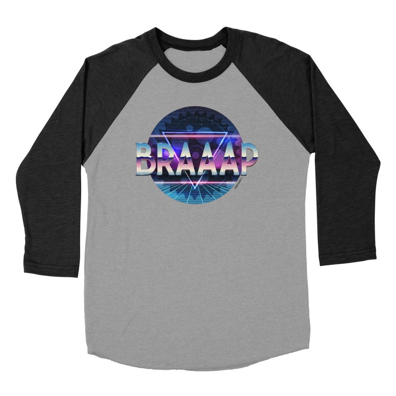 BRAAAP Chrome in Men's Baseball Triblend Longsleeve T-Shirt Heather Onyx Sleeves by CRANK. outdoors + music lifestyle clothing