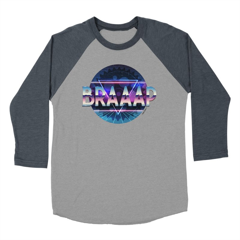 BRAAAP Chrome Men's Baseball Triblend Longsleeve T-Shirt by CRANK. outdoors + music lifestyle clothing