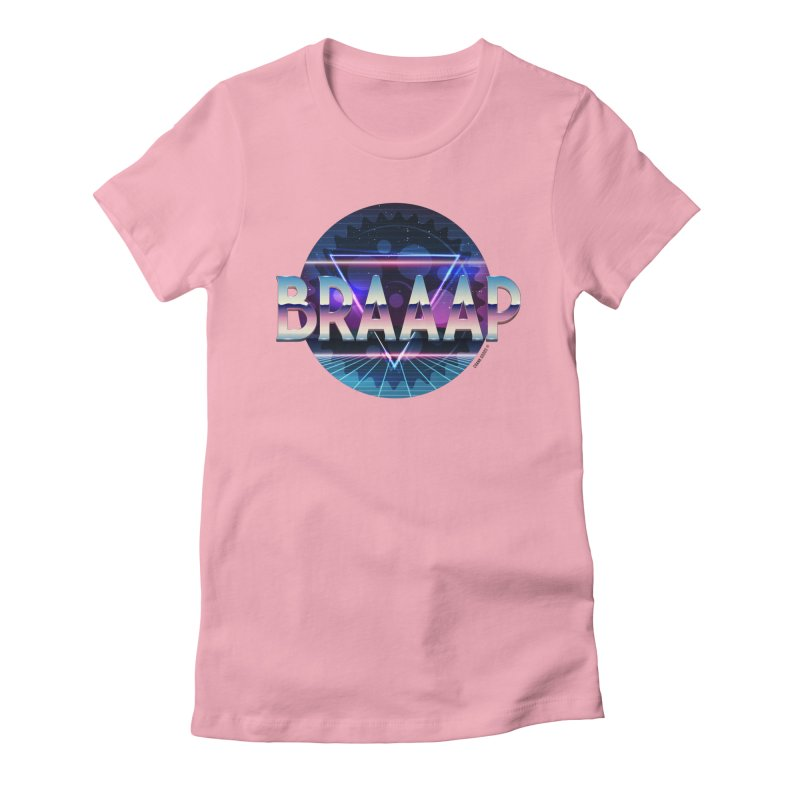 BRAAAP Chrome in Women's Fitted T-Shirt Light Pink by CRANK. outdoors + music lifestyle clothing