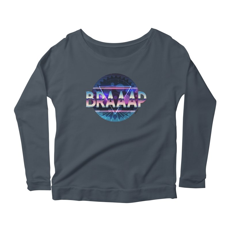 BRAAAP Chrome Women's Scoop Neck Longsleeve T-Shirt by CRANK. outdoors + music lifestyle clothing