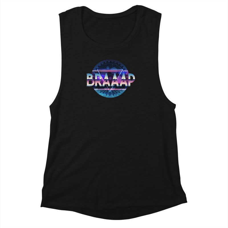 BRAAAP Chrome Women's Muscle Tank by CRANK. outdoors + music lifestyle clothing