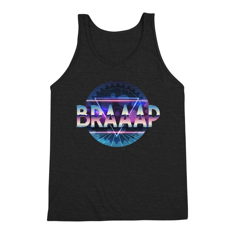 BRAAAP Chrome Men's Triblend Tank by CRANK. outdoors + music lifestyle clothing
