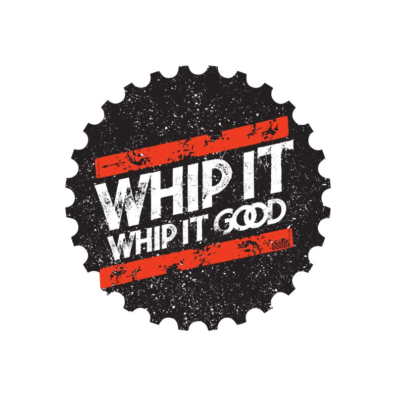 Whip It Good BLK Men's T-Shirt by CRANK. outdoors + music lifestyle clothing