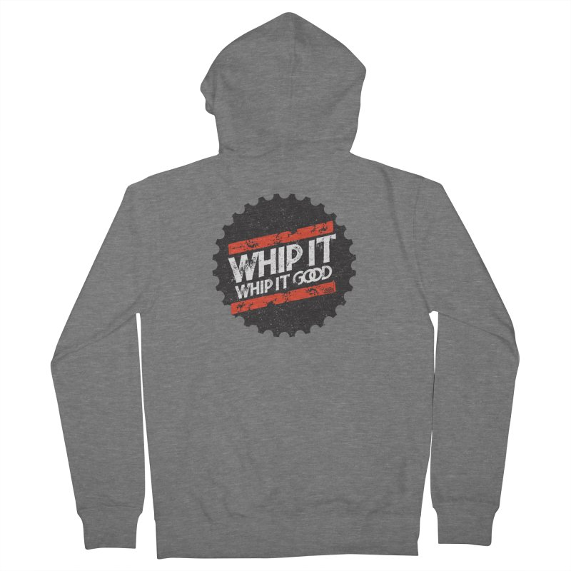 Whip It Good BLK Women's French Terry Zip-Up Hoody by CRANK. outdoors + music lifestyle clothing