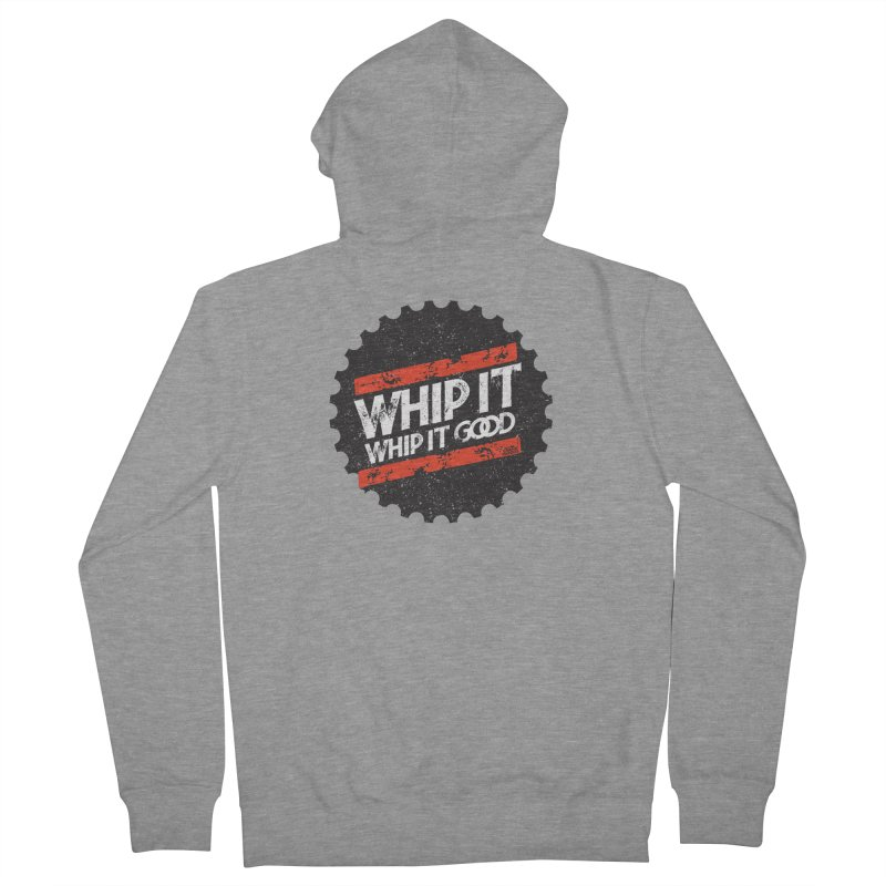 Whip It Good BLK Men's French Terry Zip-Up Hoody by CRANK. outdoors + music lifestyle clothing
