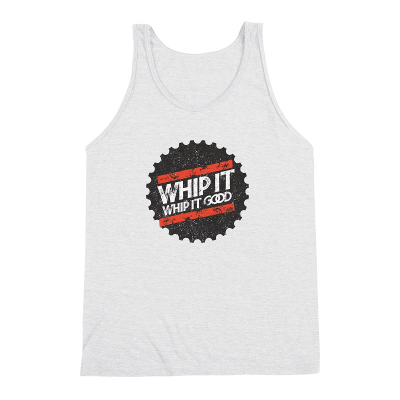 Whip It Good BLK Men's Triblend Tank by CRANK. outdoors + music lifestyle clothing