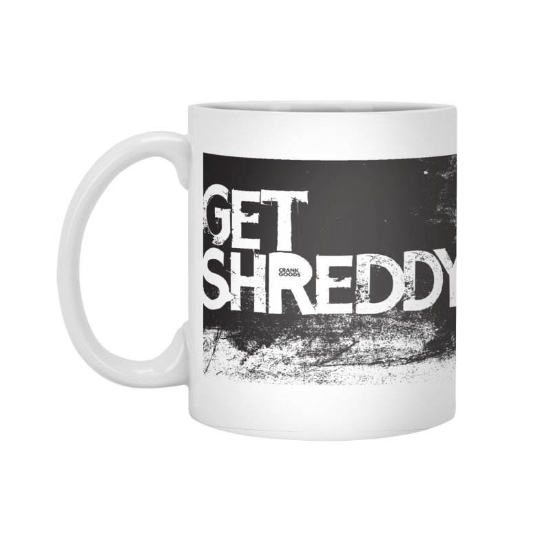 Get Shreddy Block Accessories Standard Mug by CRANK. outdoors + music lifestyle clothing