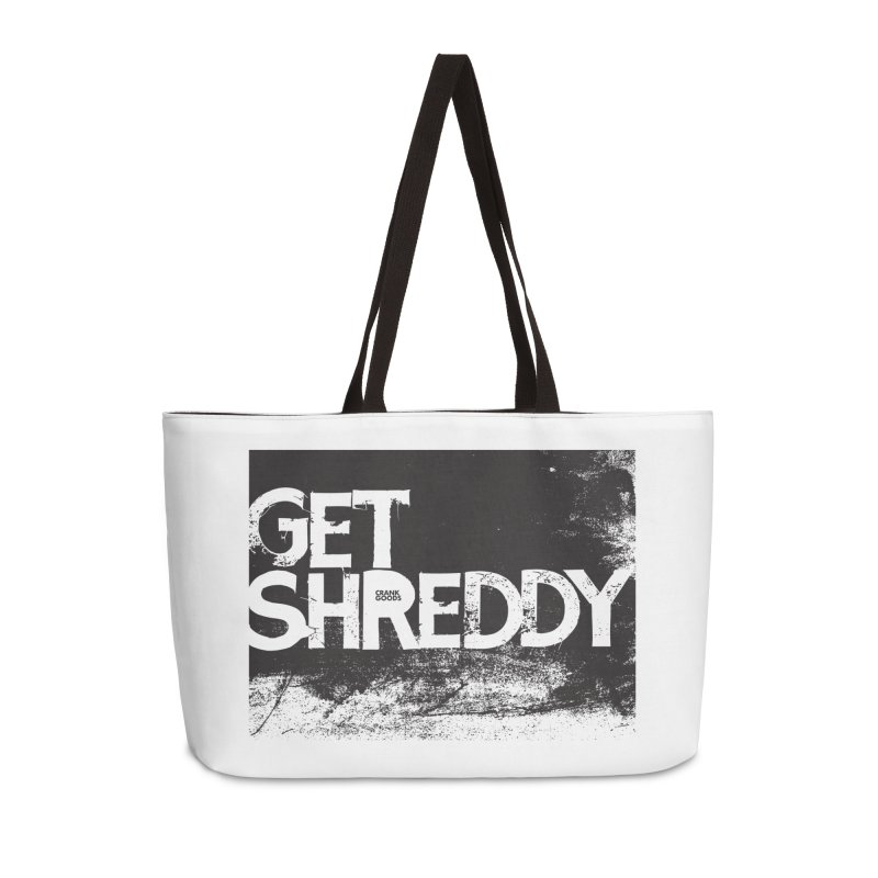 Get Shreddy Block Accessories Weekender Bag Bag by CRANK. outdoors + music lifestyle clothing