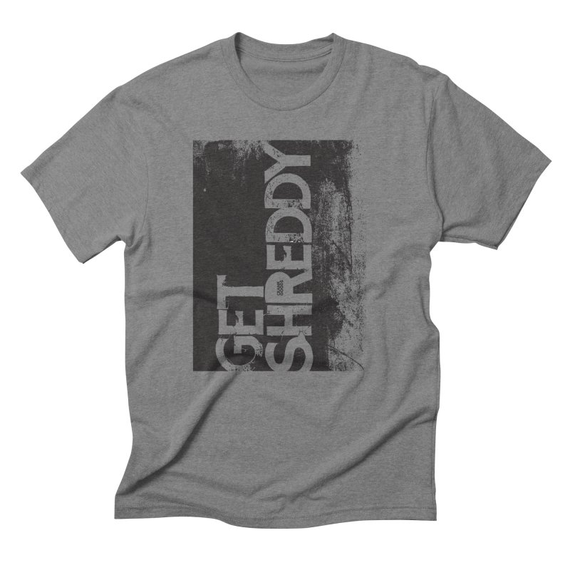 Get Shreddy Block in Men's Triblend T-Shirt Grey Triblend by CRANK. outdoors + music lifestyle clothing