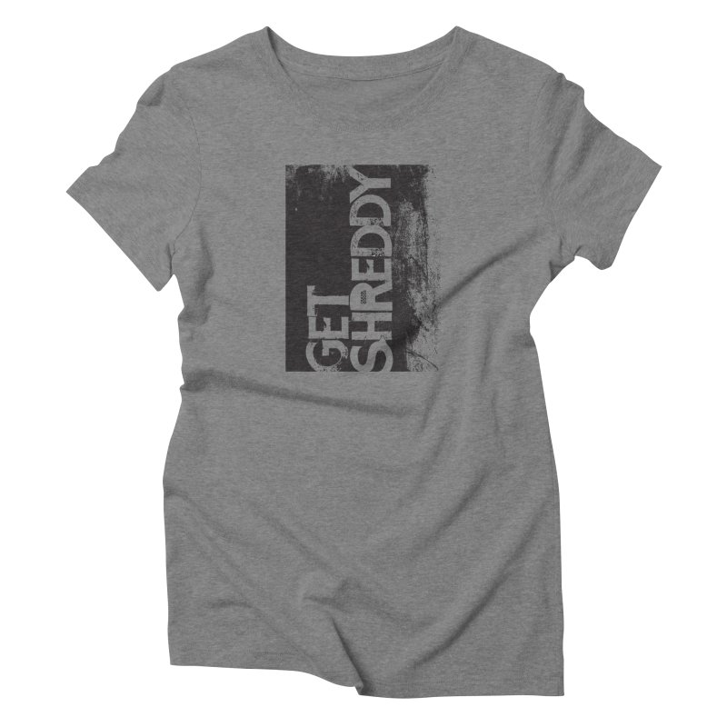 Get Shreddy Block in Women's Triblend T-Shirt Grey Triblend by CRANK. outdoors + music lifestyle clothing