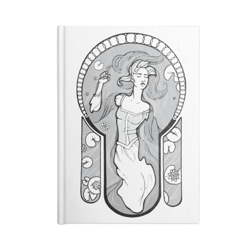 Ophelia Accessories Notebook by Crantastic Graphics