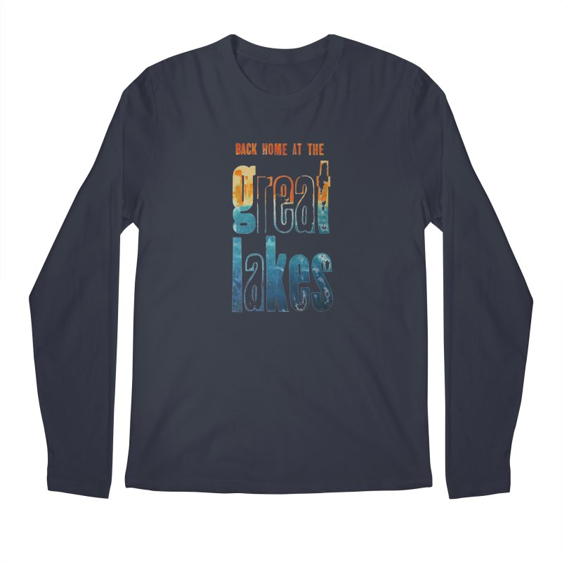 Back Home at the Great Lakes Men's Longsleeve T-Shirt by Crantastic Graphics