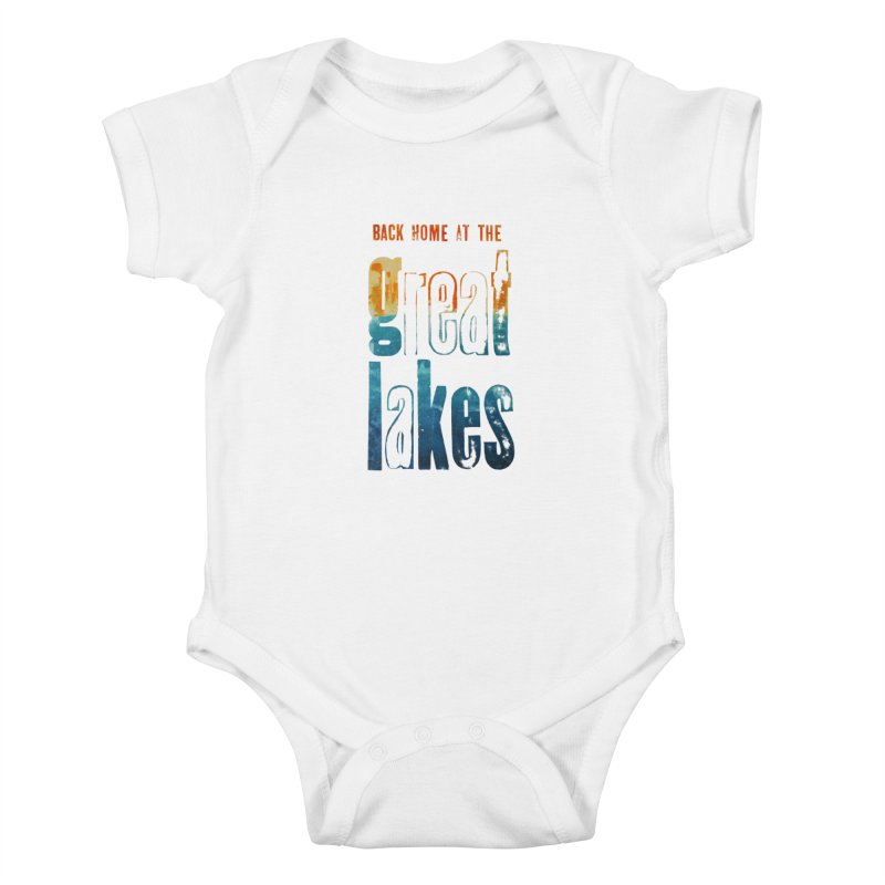 Back Home at the Great Lakes Kids Baby Bodysuit by Crantastic Graphics