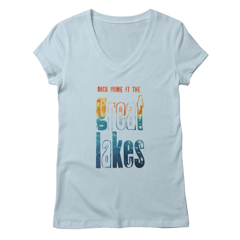 Back Home at the Great Lakes Women's V-Neck by Crantastic Graphics