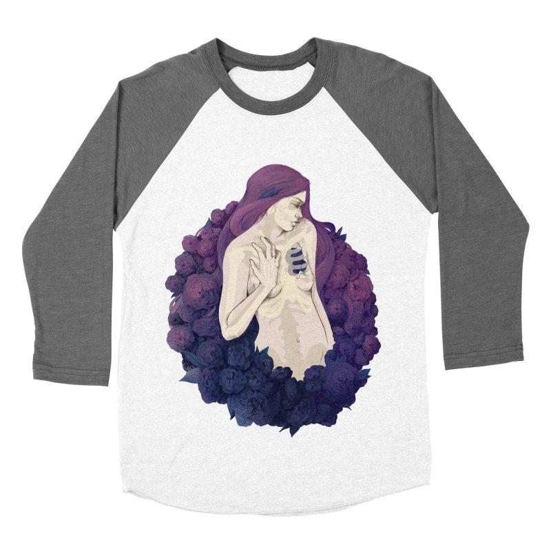 Camellia Women's Baseball Triblend T-Shirt by Crantastic Graphics