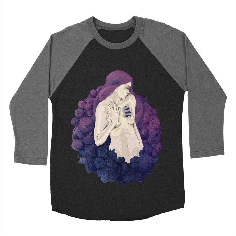 Camellia Men's Baseball Triblend T-Shirt by Crantastic Graphics