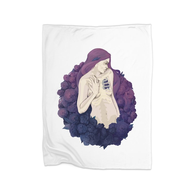 Camellia Home Blanket by Crantastic Graphics