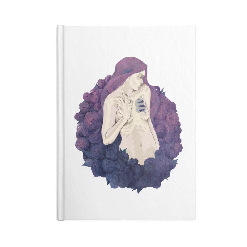 Camellia Accessories Notebook by Crantastic Graphics