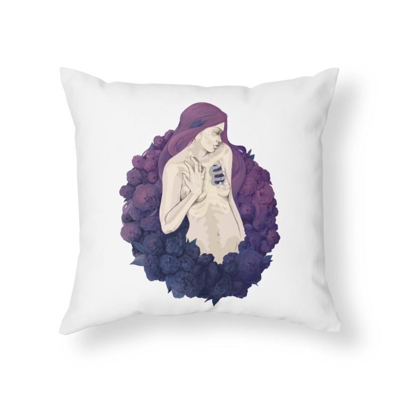 Camellia Home Throw Pillow by Crantastic Graphics