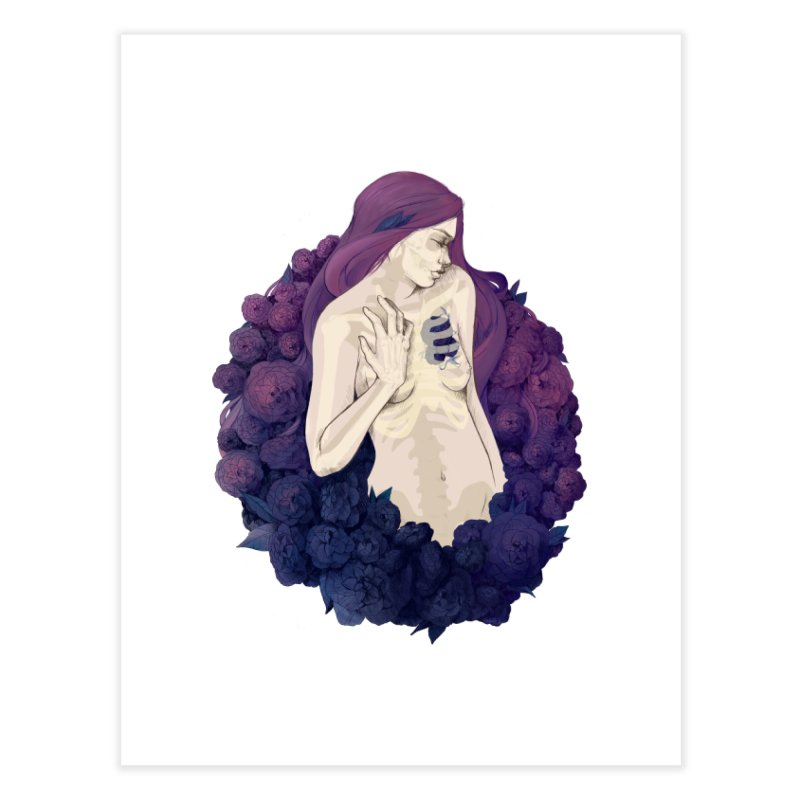 Camellia Home Fine Art Print by Crantastic Graphics