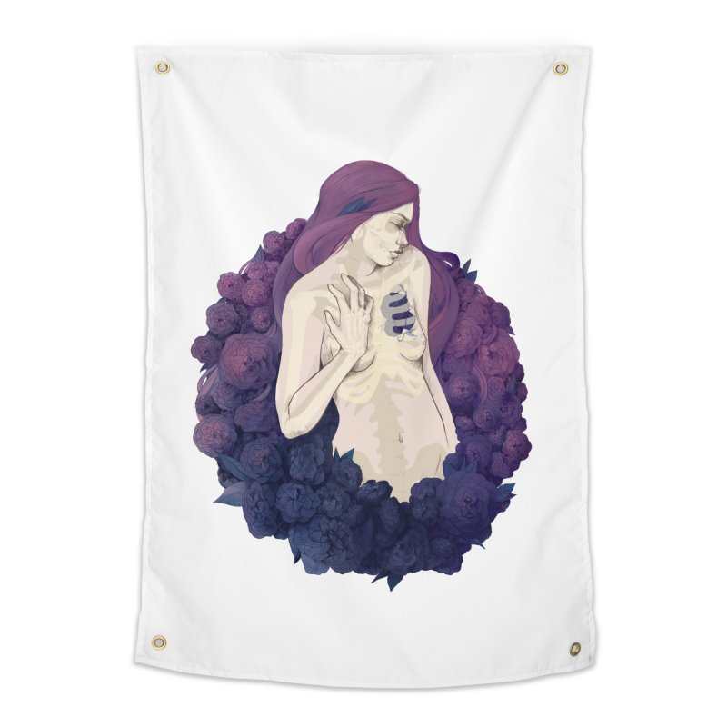 Camellia Home Tapestry by Crantastic Graphics