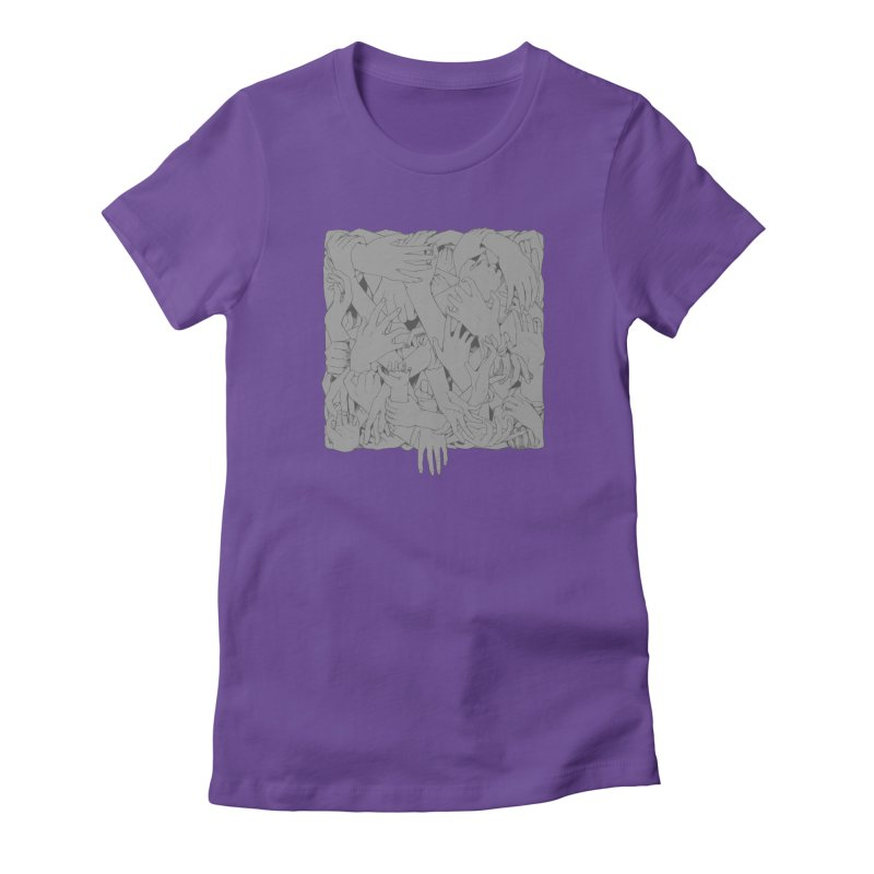 Handsy Women's Fitted T-Shirt by Crantastic Graphics
