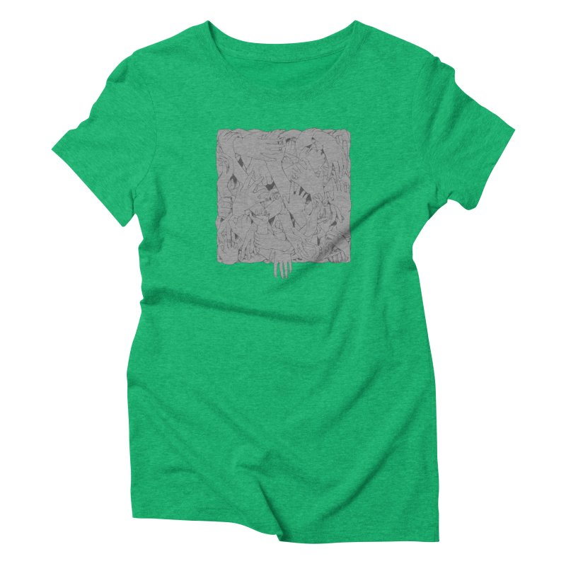Handsy Women's Triblend T-Shirt by Crantastic Graphics