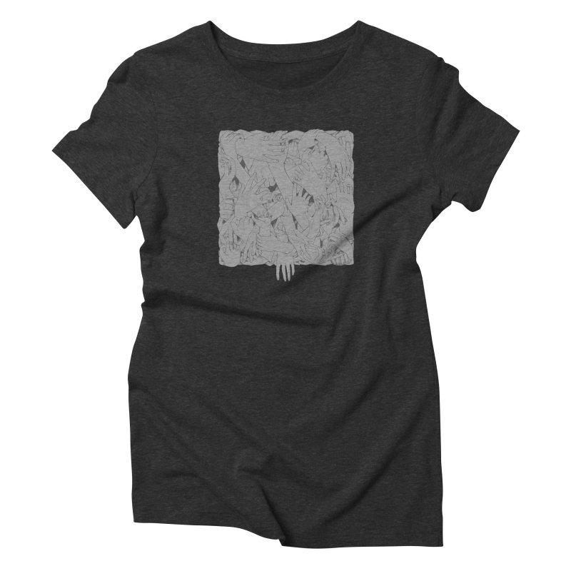 Handsy Women's Triblend T-Shirt by Crantastic Graphics