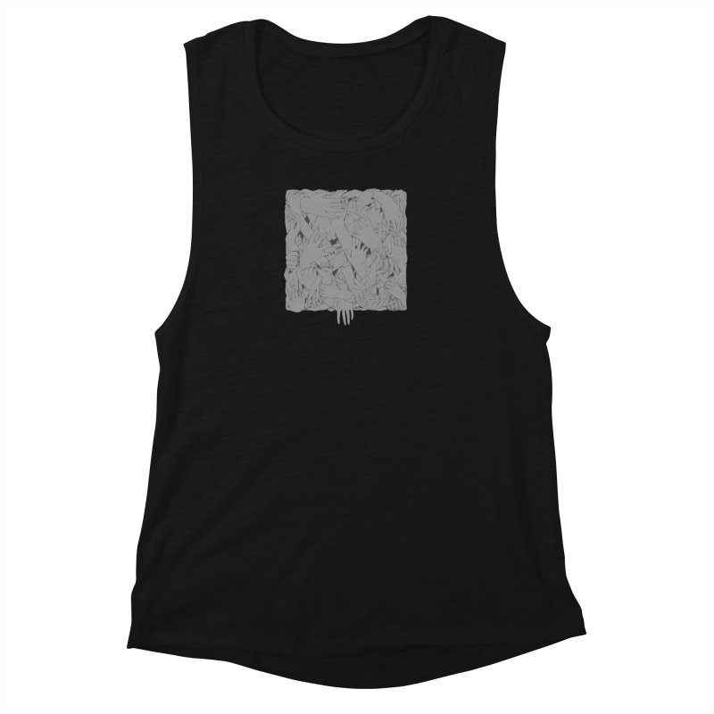 Handsy Women's Muscle Tank by Crantastic Graphics