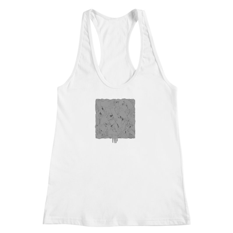 Handsy Women's Racerback Tank by Crantastic Graphics