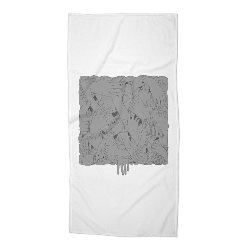 Handsy Accessories Beach Towel by Crantastic Graphics