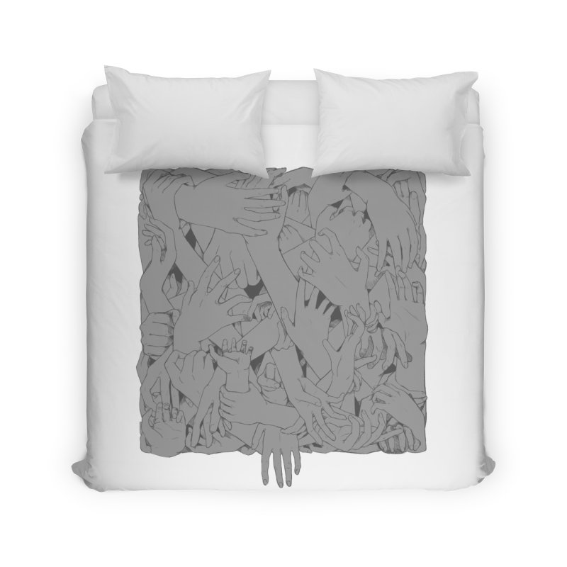 Handsy Home Duvet by Crantastic Graphics