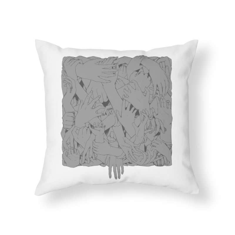 Handsy Home Throw Pillow by Crantastic Graphics