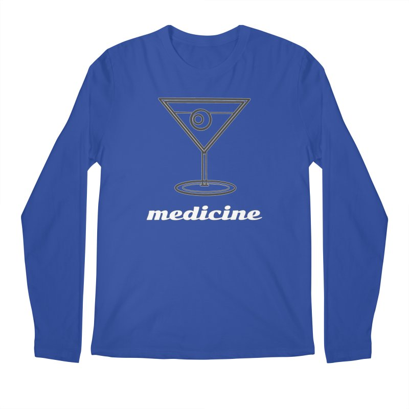 Martini Medicine Limited Men's Regular Longsleeve T-Shirt by Watch What Crappens