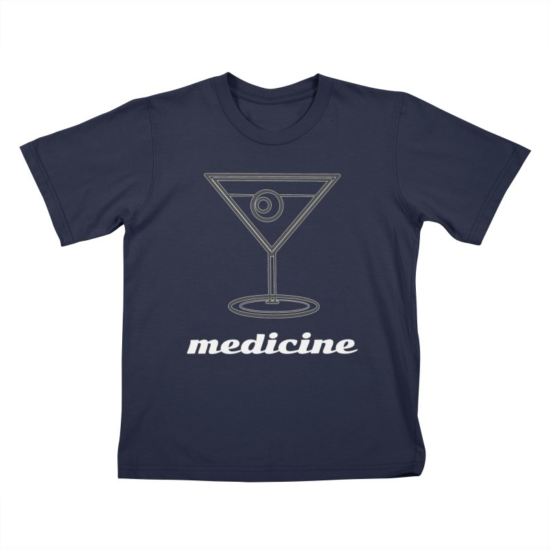 Martini Medicine Limited Kids T-Shirt by Watch What Crappens
