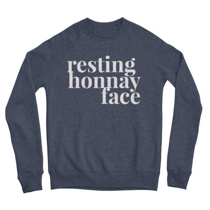 Resting Honnay Face Limited Men's Sponge Fleece Sweatshirt by Watch What Crappens