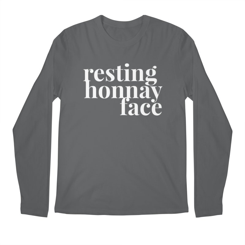 Resting Honnay Face Limited Men's Regular Longsleeve T-Shirt by Watch What Crappens