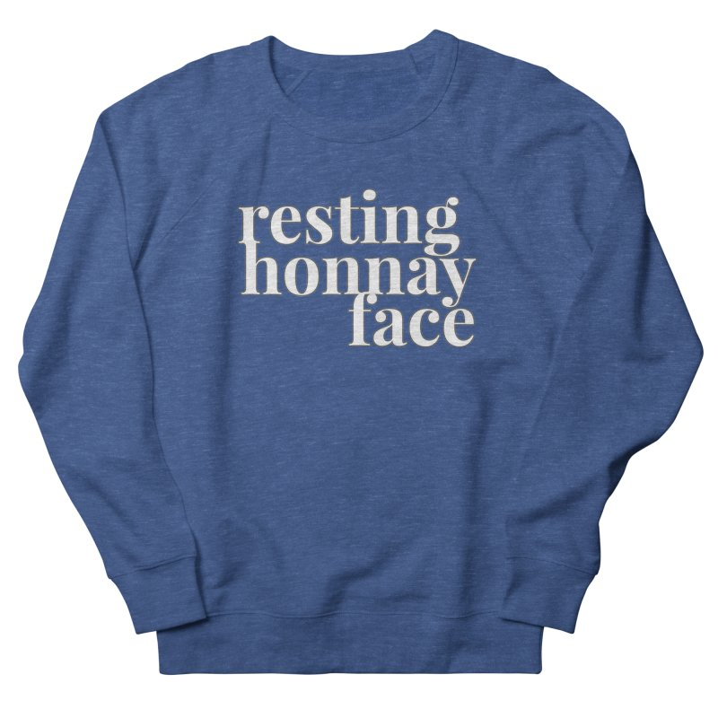 Resting Honnay Face Limited Men's French Terry Sweatshirt by Watch What Crappens