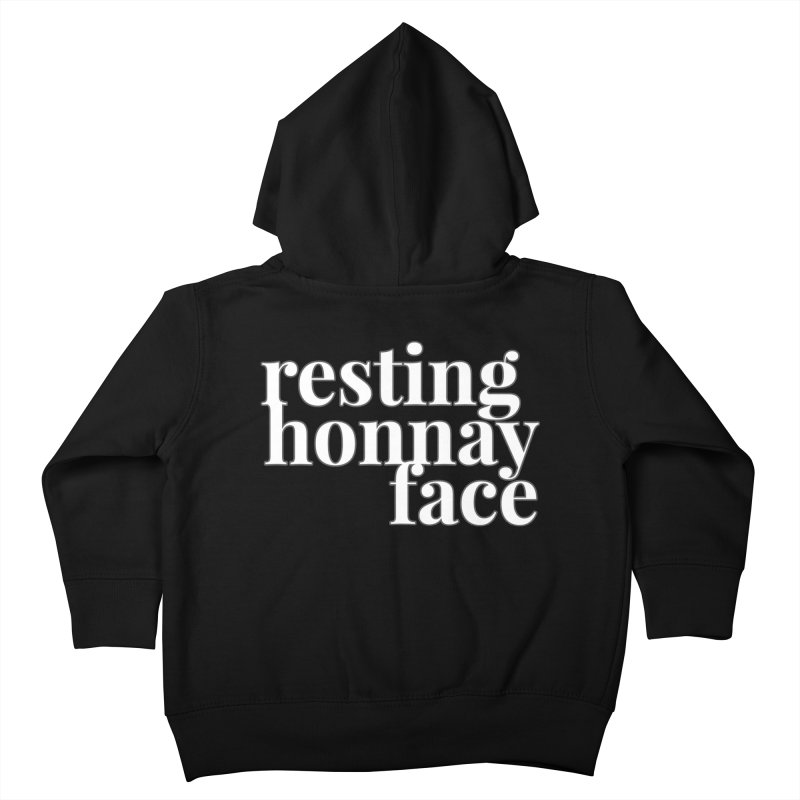Resting Honnay Face Limited Kids Toddler Zip-Up Hoody by Watch What Crappens