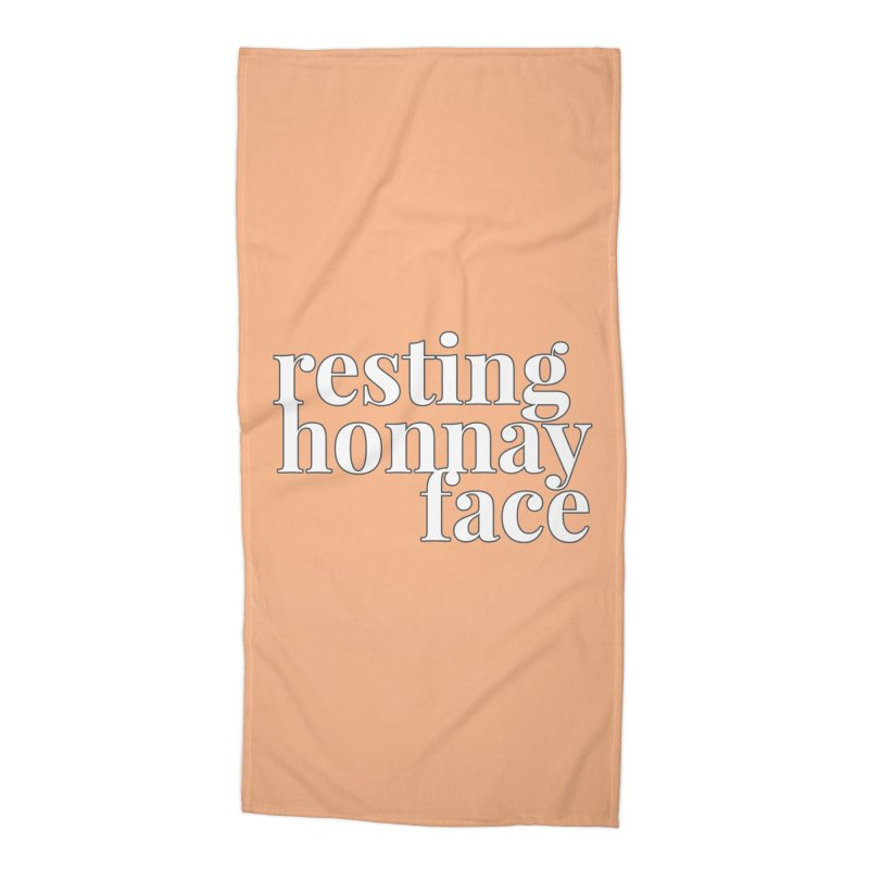 Resting Honnay Face Limited Accessories Beach Towel by Watch What Crappens