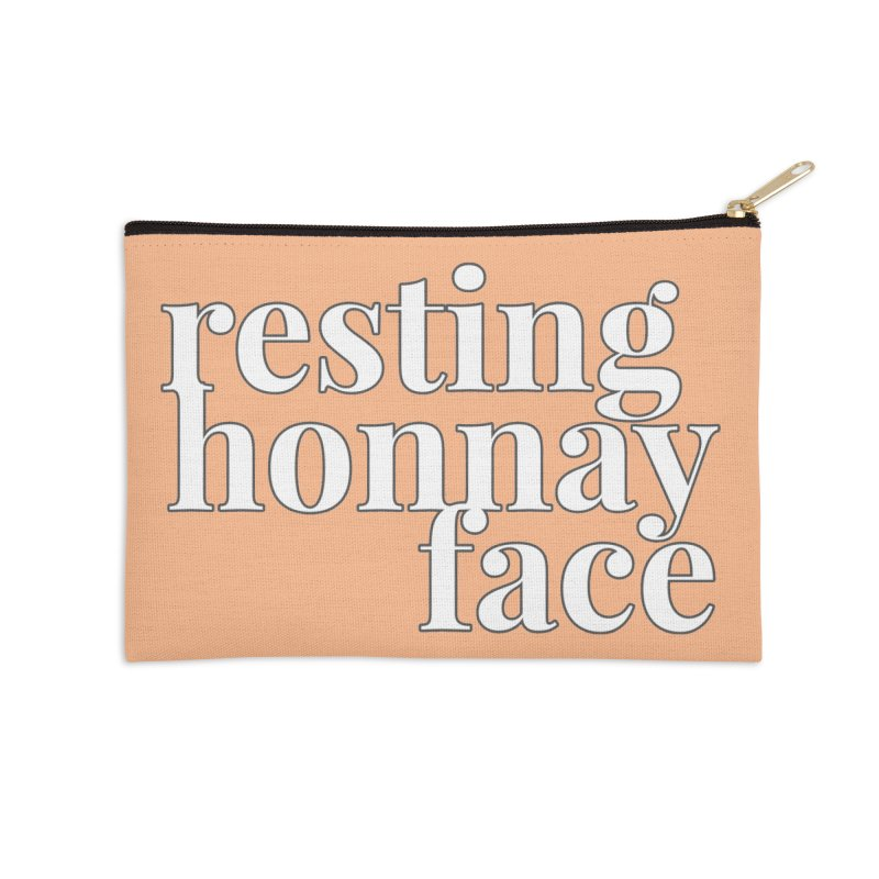 Resting Honnay Face Limited Accessories Zip Pouch by Watch What Crappens