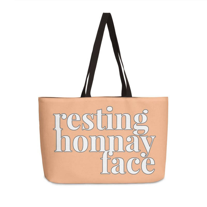 Resting Honnay Face Limited Accessories Weekender Bag Bag by Watch What Crappens