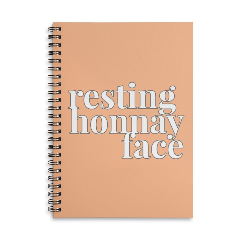 Resting Honnay Face Limited Accessories Lined Spiral Notebook by Watch What Crappens