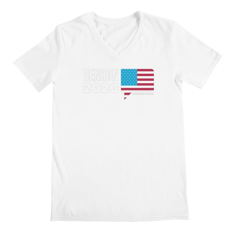 BenRon 2020 Vote Hypocrat Limited Men's Regular V-Neck by Watch What Crappens