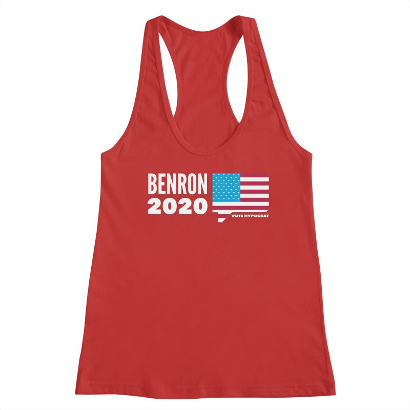 BenRon 2020 Vote Hypocrat Limited Women's Racerback Tank by Watch What Crappens