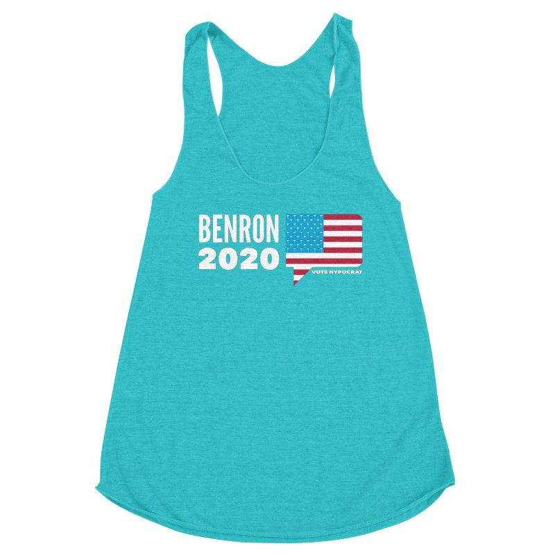 BenRon 2020 Vote Hypocrat Limited Women's Racerback Triblend Tank by Watch What Crappens